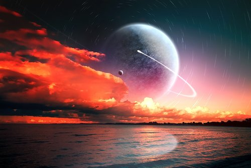 sun  sunset  planet