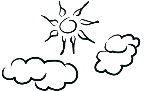 sun  clouds  sunny day