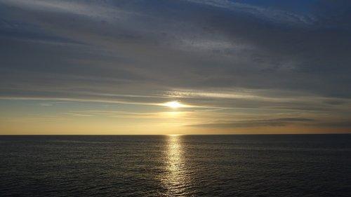 sun  sea  brightness