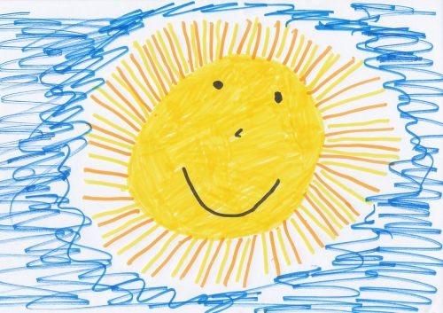 sun children drawing image