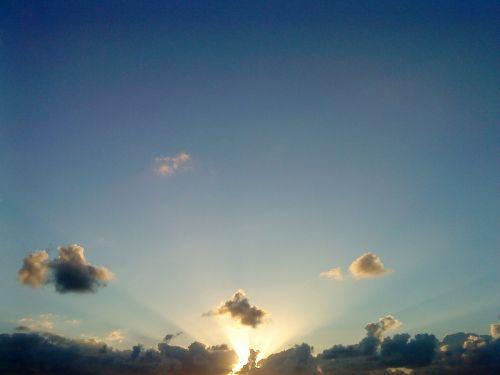 sun sun beams sky