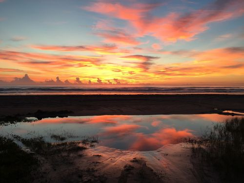 sun set reflections