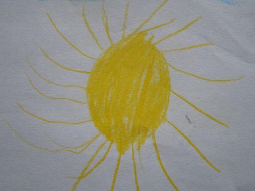 sun children drawing character development