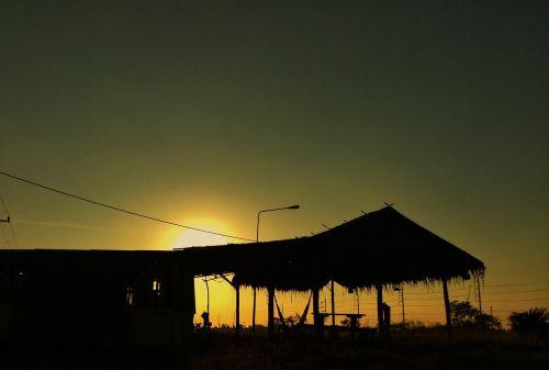 sun sunset cottage