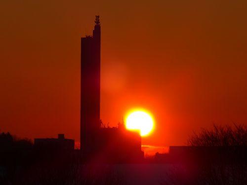 sun glowing fireball