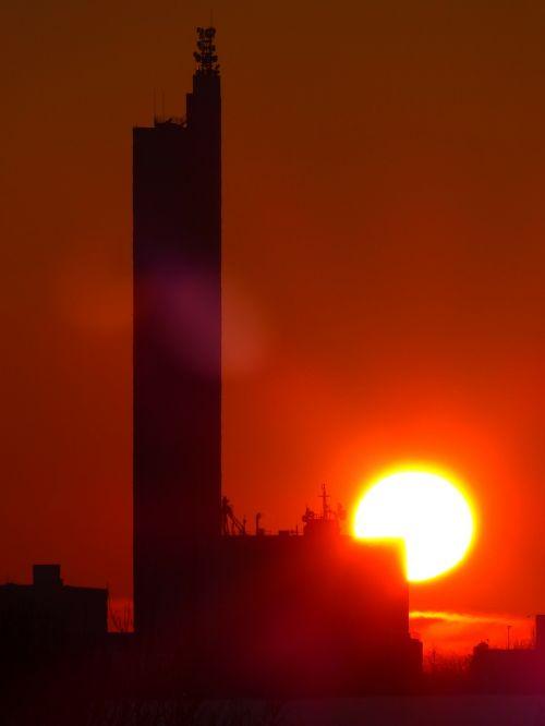 sun fireball sunset
