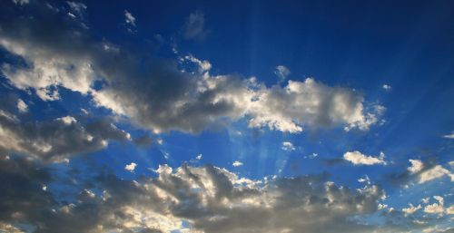 Sun Beams Radiating
