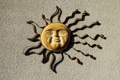 sun decoration sun burst sun emblem