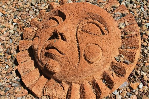 sun face sun art southwestern art