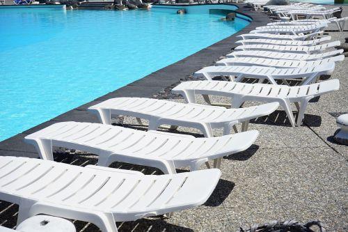 sun loungers swimming pool pool