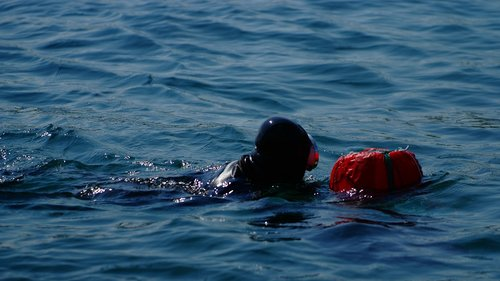 sun maid  swimming  sea