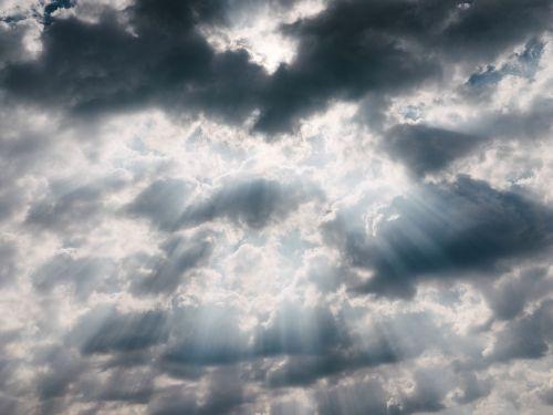 sun rays cloudy sky sky