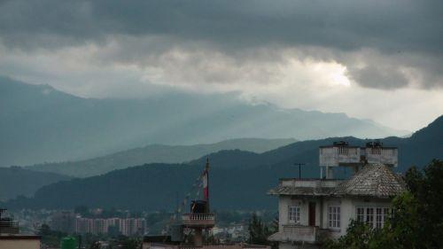 Sun Rays Above Kathmandu