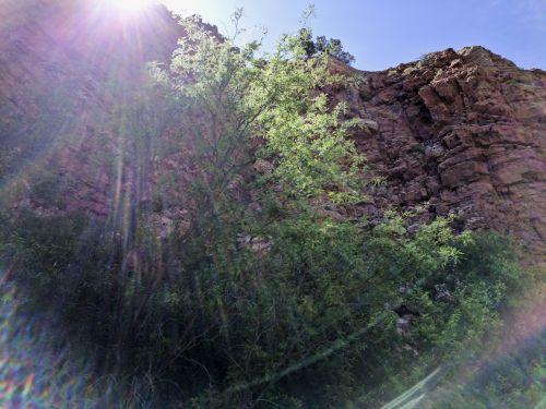Sun Rays Over Desert Mountains