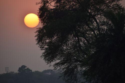 sun set sun rise nature