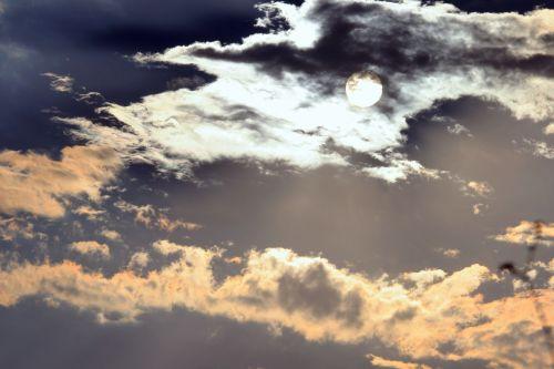 Sun Through Fiery Cloud