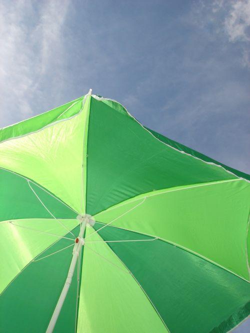 sun umbrella green holiday