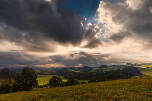 sunbeam landscape desktop background
