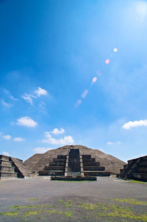 Sunbeam On Aztec Temple