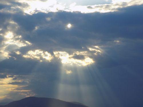 sunbeams aegina island greece