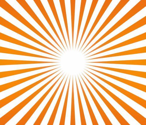Sunbeams, Sunrays, Orange