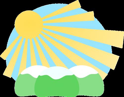 sunburst sunbeams sunrays