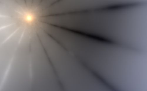 sunburst rays grey
