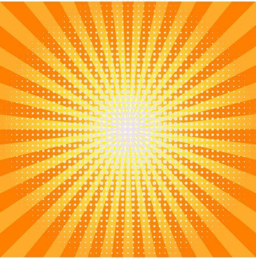 sunburst yellow red