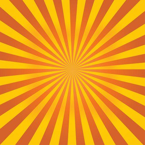 sunburst orange rays