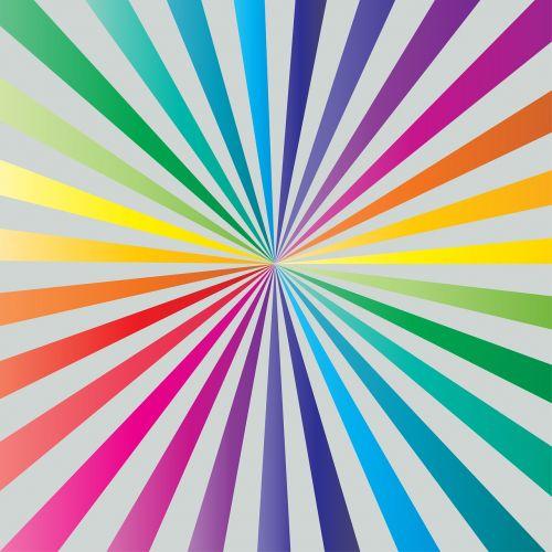 sunburst color rainbow