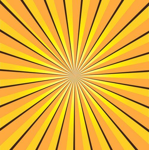 sunburst yellow rays