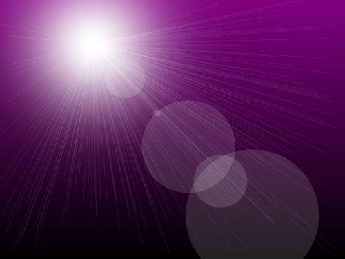Sunburst On Purple Background