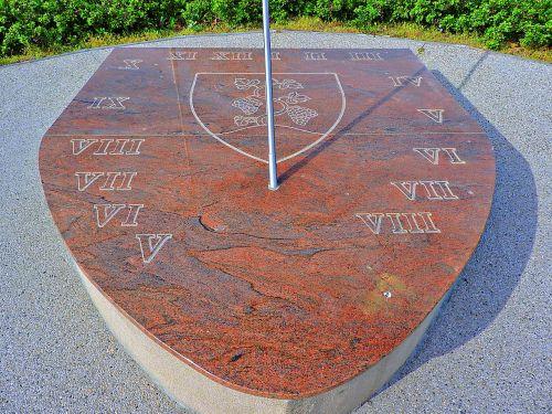 sundial marble slab roman numbers