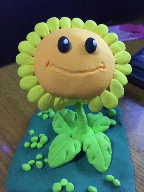 saulėgrąžos,molio skulptūra,žaislai