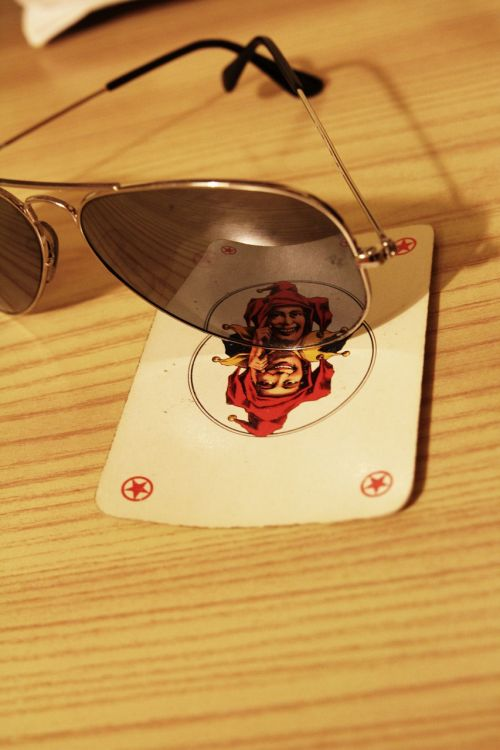 sunglasses playing card wildcard