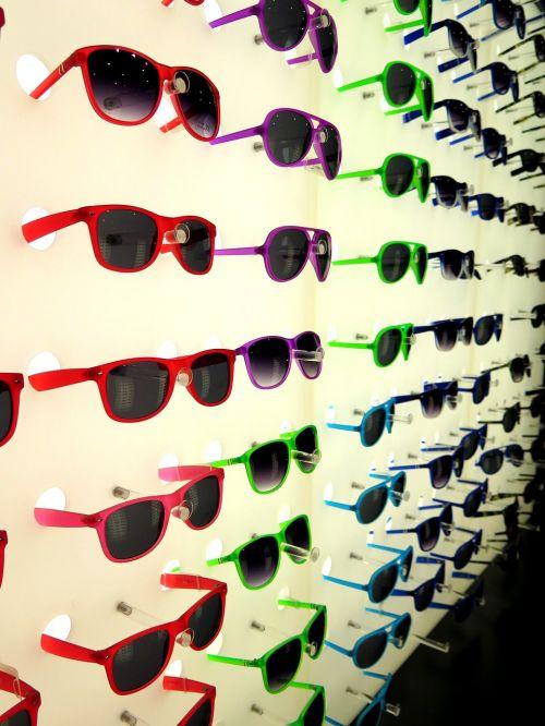 sunglasses colorful mirror
