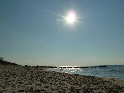 sunlight sea beach