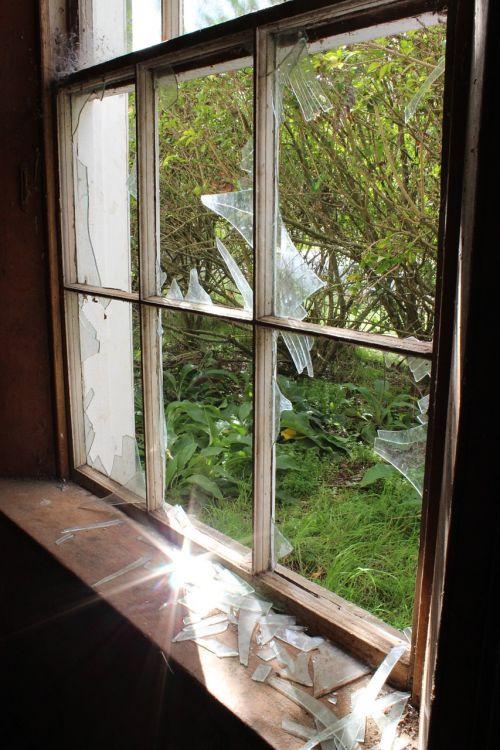 sunlight broken window broken