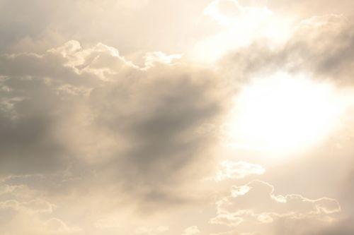 sunny clouds mist