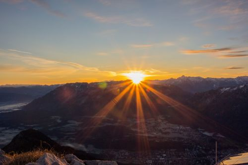 sunrise mountain sky