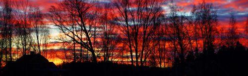 sunrise january västerås