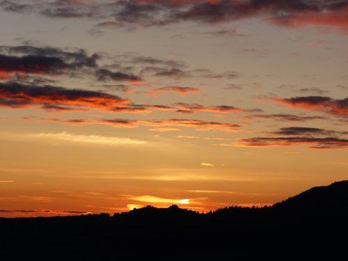sunrise clouds light