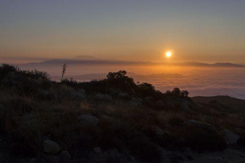 sunrise cleveland national forest landscape