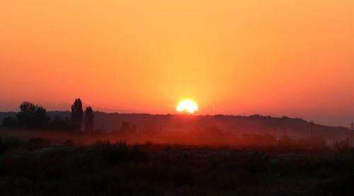 sunrise morning the haze