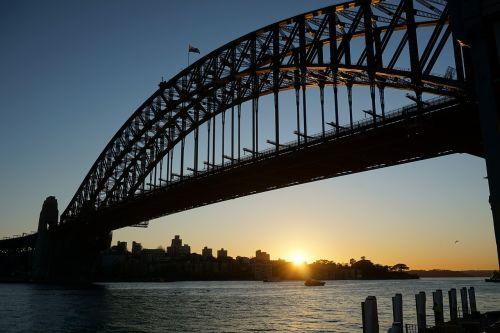 sunrise sydney harbour bridge