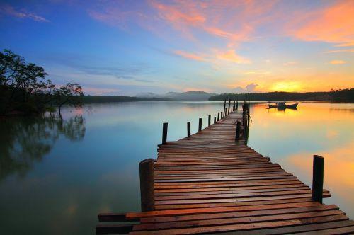 sunrise superb moment jetty