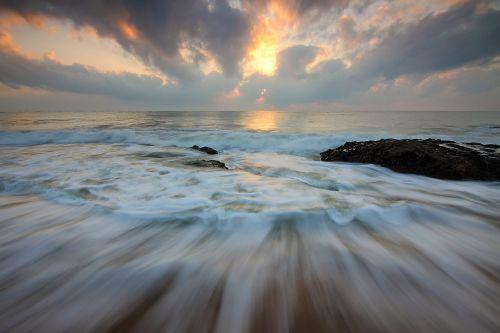 sunrise motion water motion