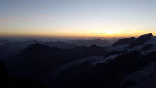 sunrise alpine summit