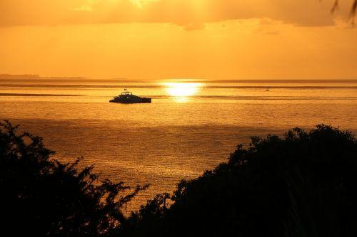 mozambique sunrise golden sea mozambique sunset
