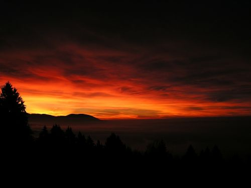 sunrise sky glow